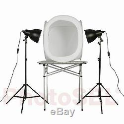 PhotoSEL PPC144 Studio Lighting Kit 110W 60cm Light Tent for Product Photography