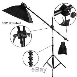 Photo 2850W Softbox Continuous Lighting Kit Studio Soft box Boom arm Earthed UK