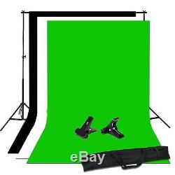 Photo Studio Background Softbox Support Stand Boom Arm+Continuous Lighting Kit