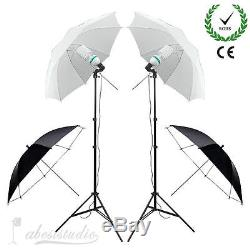 Photo Studio Continuous LED Softbox Umbrella Lighting Kit Backdrop Light Stand