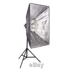 Photo Studio Continuous Lighting Light Kit + Background Softbox Support Stand