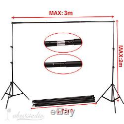 Photo Studio Continuous Lighting kit Softbox Background Support Stand Reflector