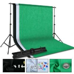 Photo Studio LED Softbox Lighting Kit Boom arm Background Support Stand 3 Color