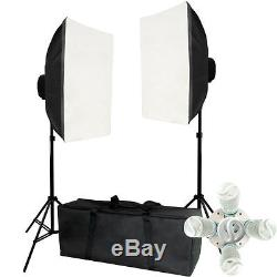 Photo Studio Photography Continuous Softbox Lighting Kit Backdrop Light Stand