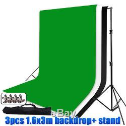 Photo Studio Softbox Lighting Boom Soft Box Light Kit Backgrounds Stand 4xClamp