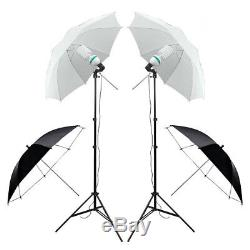 Photo Studio Softbox Umbrella Lighting Kit Background Support Stand 4 Backdrop