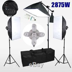 Photo Studio Video Continuous Softbox Lighting Soft Box Boom Arm Kit Light Stand
