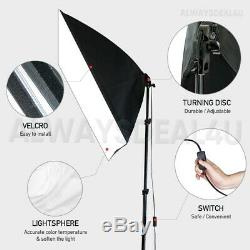 Photography 4 Backdrops+Support Set Soft Box Studio Softbox Lighting Stand Kit