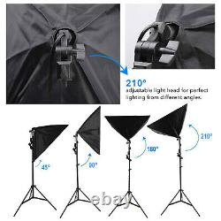 Photography Studio Dimmable Softbox Umbrella Lighting Background Backdrop Stand
