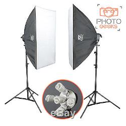 Photography Studio Double Softbox Kit 3950w Continuous Lighting Photo Video