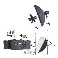 Photography Studio Kit Complete withPhoto Lighting Strobes Stands & More! NEW