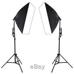 Photography Studio Softbox 5 Backdrop Umbrella Lighting Light Support Stand Kit