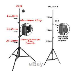 Pro 2850W Photo Studio Lighting kit Softbox Boom arm 3 Cotton Background & Stand