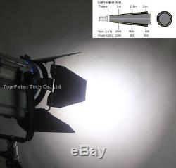 Pro Film LED 20W3 Fresnel Studio Light + Stands3+Case kit For Cam photography
