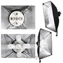 Pro Photo Studio 2850W Softbox Continuous Lighting Kit Light Box Reflector Boom