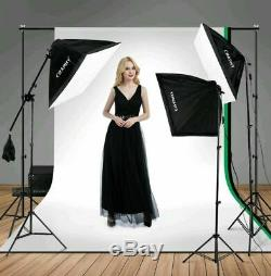 Professional Photography Studio 4-Socket 2000W Softbox Continuous Lighting