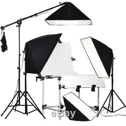 RPGT Soft box Studio 80W 5500K Bulbs 50x70cm Softboxes 2M Light Stand with and