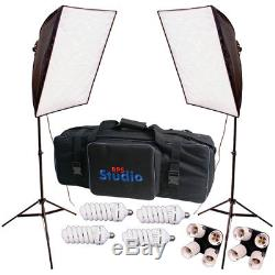 RPS Studio Hybrid Still & Video 20 Square Softbox Kit with 2 Softboxes + 2 Stands