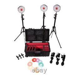 Rotolight Neo 2 (Neo II) 3 x studio lighting kit with stands and gels hard case