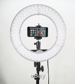 SOCIALITE 12 DIMMABLE PHOTO VIDEO LED RING LIGHT KIT STAND SMARTPHONE ADAPTER