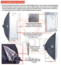 Softbox Studio Continuous Lighting Kit 2250w Photography Video Pro Photo Set