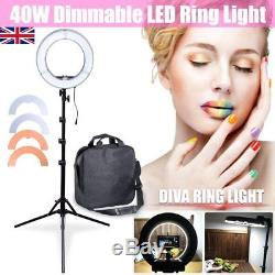 Studio 13 34cm 40W Dimmable LED Ring Light + Stand + Colour Filters Kit