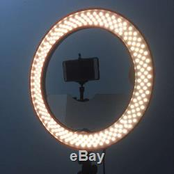 Studio Dimmable 18 55W 5500K LED Camera Mirror Video Ring Light Kit with 2M