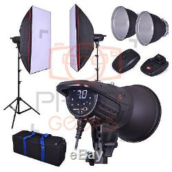 Studio Flash Lighting Kit 800w 2x400w Head- Softbox Strobe Photography Digital