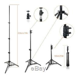 Travor 2 Pack 600 LED Video Light Studio Photography Camera Stand Lighting Kits