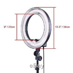 UK Studio 400W 5500K 34cm Photo Video Ring Light with Color Fliter + 185cm Stand