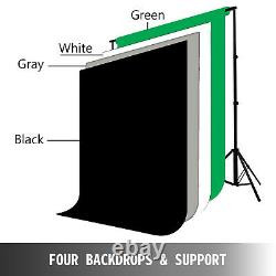 Video Photo Studio Continuous Lighting Stand Kit Portable Aluminum Alloy Softbox