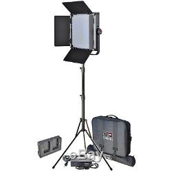 Vidpro LED-1X1 Studio Video Lighting Kit withLED Light Stand Cases & Soft Diffuser