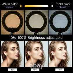 Yidoblo QS-480DII 18''LED Ring Light 9990K Dimmable Studio Lamp For Makeup Video